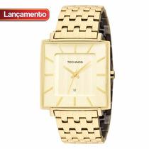 Relógio Technos Classic Slim Gn10ap/4x - Garantia E Nf