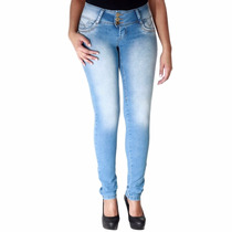 Calça Jeans Sawary Skinny Com Elastano