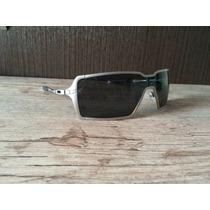 Oakley Probation Polarizado Silver - Prata Com Lentes Pretas