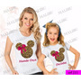 Tal Mãe Tal Filha Baby Look Kit 2 Uni Minnie Diva Mickey