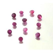 Lote 11 Pedras Preciosas Natural Rubis Redondo J11321