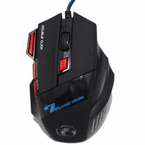 Mouse Gamer 7 Botões Com Fire Button - Usb Led 2400 Dpi