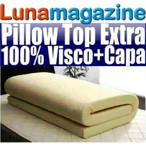 Pillow Top Avulso Visco Elástico Colchão King + Capa Dryfit
