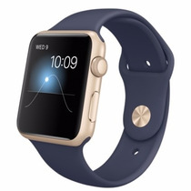 Apple Watch Sports 42mm Lacrado Caixa Dourada Pulseira Azul