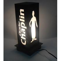 Luminária De Mesa Mdf Luminária Luminoso 32cm Chaplin