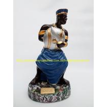 Escultura Orixa Africano Ogum Imagem 25cm Umbanda Candomblé