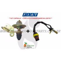 Kit Atuador + Capsula Marcha Lenta Com Suporte Fiat Uno Ep
