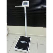 Balanca Welmy W300 300kg Ideal Para Obeso E Idoso Base Larga