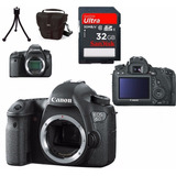 Câmera Canon Eos 6d Corpo + Bolsa + Tripé + 32gb C/10 Em Sp