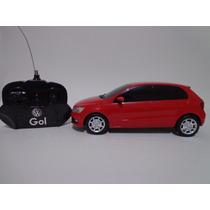 Carro Controle Remoto Vw Gol 1/18 Cks Vermelho