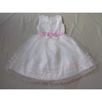 Vestido Infantil Festa/ Casamento/florista Branco E Rosa