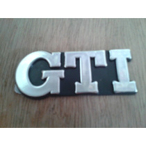 Kit Emblemas Mala Gti E 2000 Gol 95 96 97 98 99 Aço Escovado
