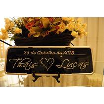 Placa Decorativa Personalizada Strass, Lembrancinhas, Noiva