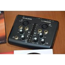 Placa M Audio M Track I I 2x2 Mobile Interface Gravação