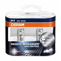 Kit Lâmpadas H1 + Hb3 + H11 Osram Night Breaker 110% +luz