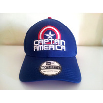 Boné De Aba Curva Fechado Marvel Capitão América Original
