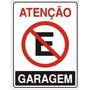 Placa Sinalizadora Proibido Estacionar Garagem