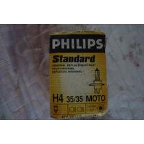 Lâmpada Para Farol Extra Duty Moto H4 12v 35w Philips