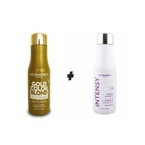 Intensy Color Gold Blond 500ml+shampoo Matizador Silver 500