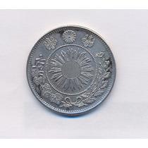 Japão 50 Sen 1871 Prata. Belo Exemplar.