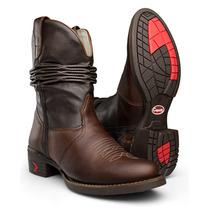 Bota Country Masculina Sanfonada Texana Couro Capelli Boots