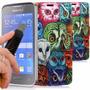 Kit Capa Carteira + 1 Película Vidro Samsung Galaxy Ace 4