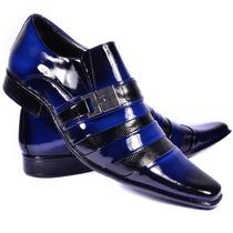 Sapato Social Couro Combina Calça Jeans Bermuda Colete Terno