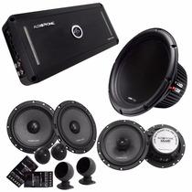 Kit Audiophonic Módulo 5.1,kit 2 Vias6,coaxial 6,sub 10+rca