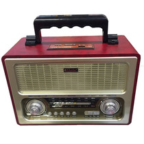 Micro System Caixa De Som Portátil Radio Mp3 Usb Retrô