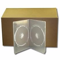 Box Duplo Slin Dvd Transparente Amaray Caixinha 100 Und