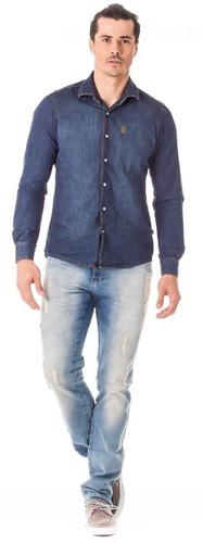 Calça Masculina Skinny Com Elastano - Com Puídos