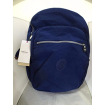 Mochila Kipling Original Modelo Seoul Color Ink Blue