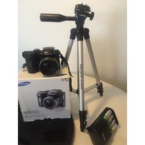 Câmera Semi Profissional Samsung Wb100 + Carreg + Pedestal