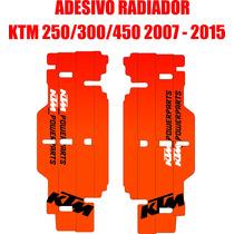 Adesivos De Radiador Ktm Powerparts 250/300/450 ( 07 - 15 )
