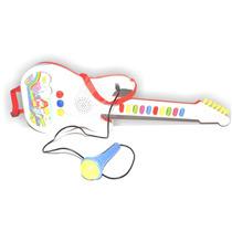 Guitarra Infantil Com Microfone - 10 Sons / Xin Anda