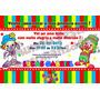40 Convite Aniversário 10x15 Patati Galinha Ursos Frozen