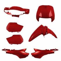 Kit Carenagem Completa Biz100 Vermelho 98á01 Modelo Original