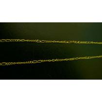 Cordão Fino Masculino Folheado A Ouro 18k 60cm