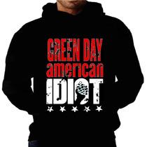 Blusa Moletom Green Day Capuz Bolso Banda Moleton Frio