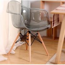 Cadeira Eames Eiffel Com Braços - Acrilica Transparente