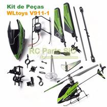 Kit Peças De Reposição Helicóptero Controle Wltoys V911