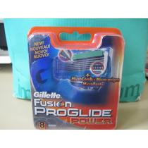 8 Cartuchos Gillette Fusion Proglide Power Legítimos