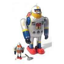 Brinquedo Antigo - Robô De Lata X 25 - Funcionando !