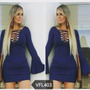 Vestido Manga Flare Moda Instagran Frete Grátis Todo Brasil