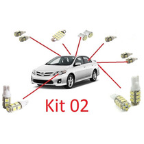 Kit 12 Lâmpadas Led Para Corolla 2009 - 2013 - Frete R$1,00