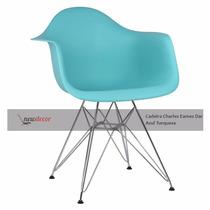 Cadeira Charles Eames Dar Azul Turquesa Em 12x S/ Juros