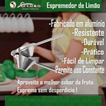 Espremedor De Limão Manual Em Alumínio