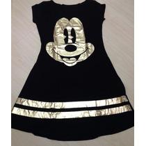 Vestido Mickey Curto Varias Cores