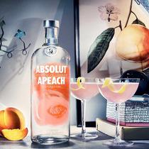 Vodka Absolut Apeach 40% Vol 100% Original + Brinde
