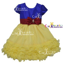 Vestido De Festa Infantil Branca De Neve Com Tiara De Brinde